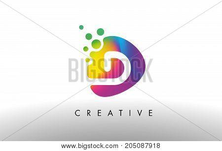 D Colorful Logo Design Shape. Purple Abstract Shape Letter Icon.