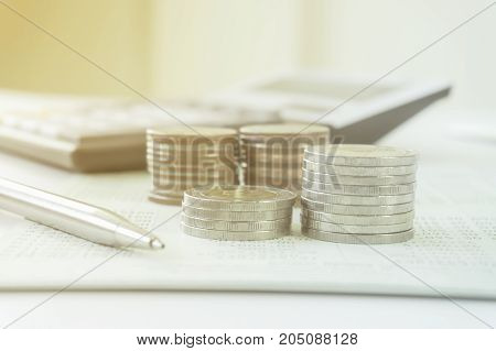 Concept of currency trading, making a decision for an optimal gain. Closeup view.