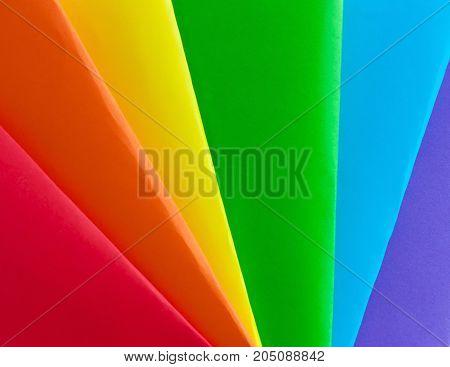 symbol, concepts  of LGBT. Rainbow Multicolored Flag