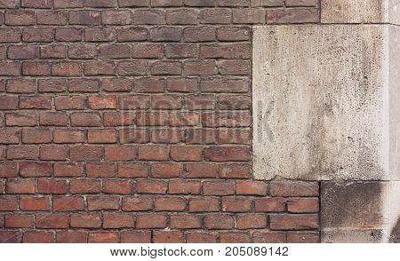 Old Vintage Wall With Brown Brick,
