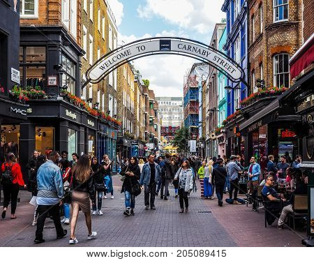 Carnaby Street In London, Hdr