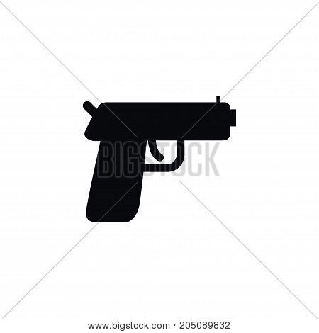 Pistol Vector Element Can Be Used For Handgun, Pistol, Gun Design Concept.  Isolated Handgun Icon.
