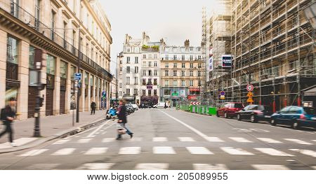 Street Atmosphere In A Street Perpendicular To The Famous Rue De Rivoli