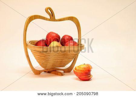 Autumn still life / Apples in a basket