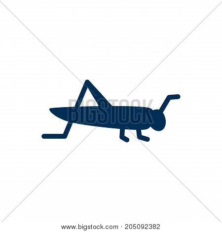Vector Mantis Element In Trendy Style.  Isolated Grasshopper Icon Symbol On Clean Background.