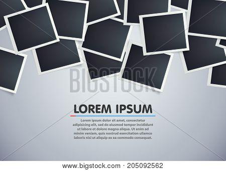 Retro photo frame background. Sweet memories concept. Vector illustration