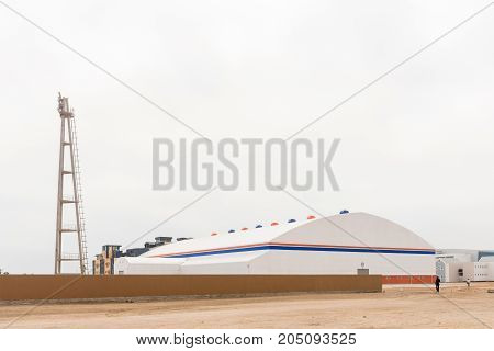 SWAKOPMUND NAMIBIA - JUNE 30 2017: The Dome indoor sport and recreation centre in Swakopmund in the Namib Desert on the Atlantic Coast of Namibia.