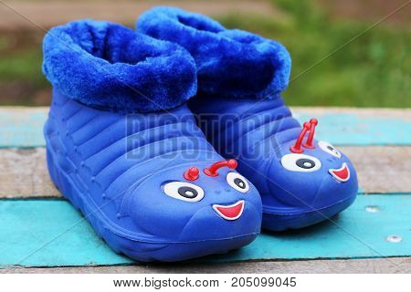 Children's Rubber Shoes For Walking In The Rain, Funny Design