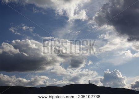 Clouds above Vitosha mountain near Sofia, Bulgaria