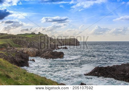 The singular cliffs of the coasts of Cantabria