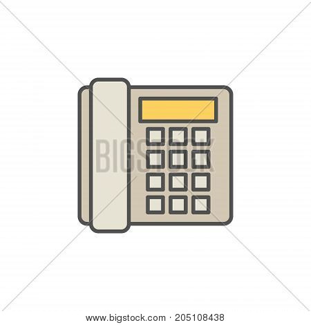 Colorful landline phone vector icon or symbol on white background
