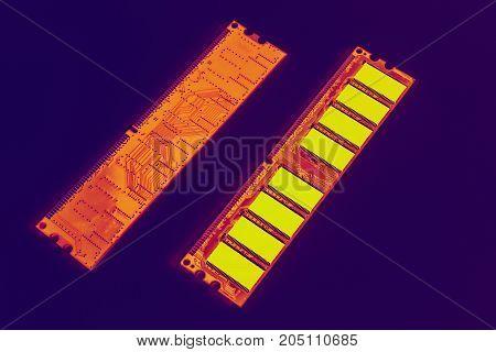 Memory Module Ddr Ram Orange Yellow