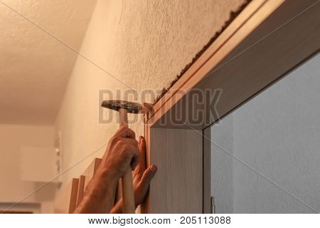 Installation Of Interior Joinery, Room Doors, Stock Loading, And Placement In The Flat, Master Level