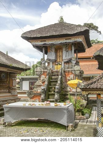 shrine at a water temple named Pura Ulun Danu Bratan at Bali Indonesia