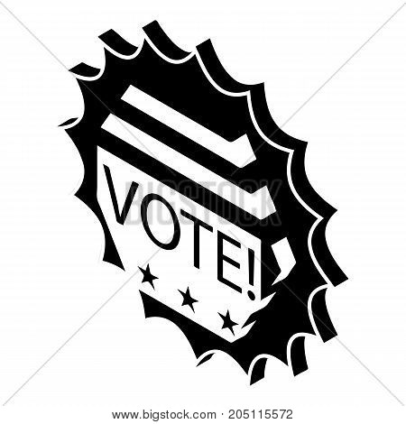 Vote emblem icon. Simple illustration of vote emblem vector icon for web design isolated on white background
