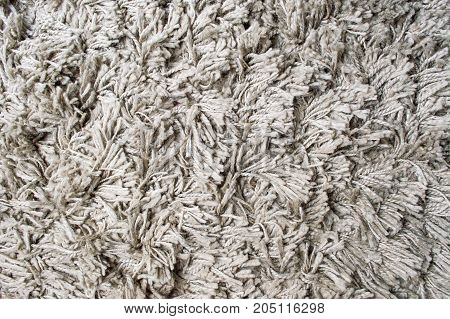 Fluffy Gray Carpet Background Pattern