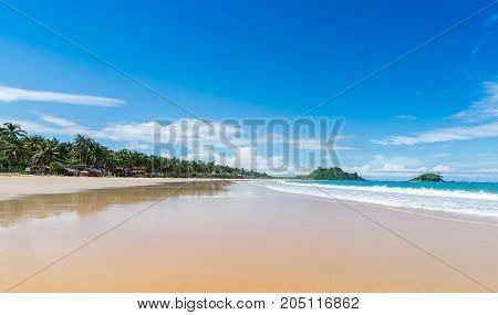 One of the most famous beaches in the Philippine Islands. Sea sand palm trees.