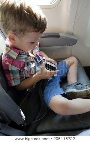 Boy In Airplane