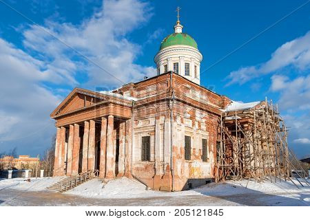 Trinity Church city Yakhroma Russian Orthodox Church diocese of Moscow (oblast) Dmitrov diocese
