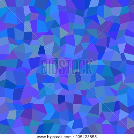 Geometric abstract irregular rectangle mosaic background - polygonal vector design from rectangles in blue tones