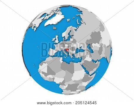 Croatia On Globe Isolated