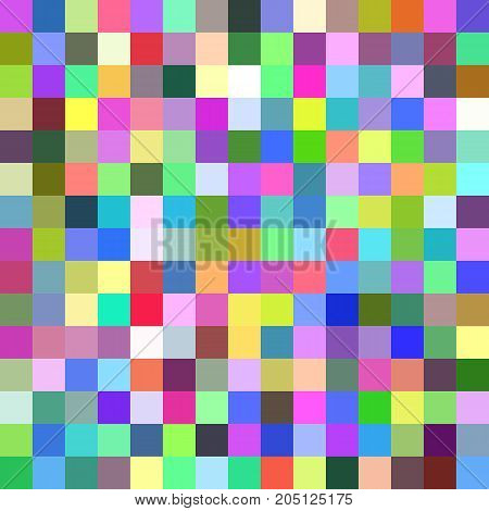 Abstract square tile mosaic background - vector illustration from multicolored squares