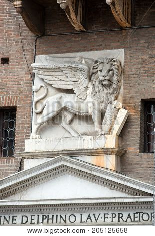 Verona - Piazza dei Signori is the civic and political heart of Verona Italy