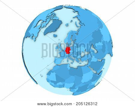 Germany On Blue Globe Isolated