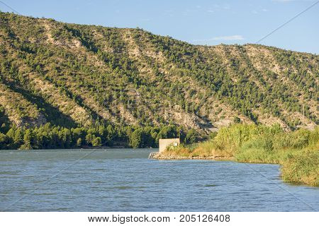 The River Ebro On Its Way Through Mequinenza, Aragon