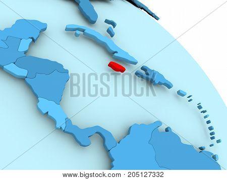 Jamaica On Blue Globe