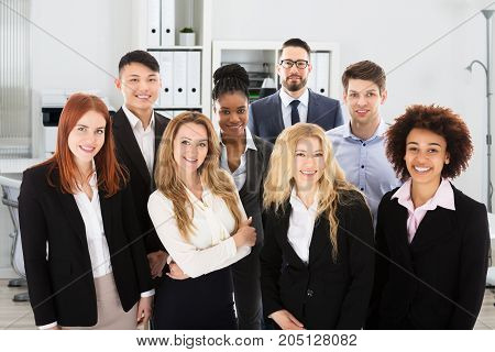 Portrait Of Confidence Multi Ethnic Business People In Office