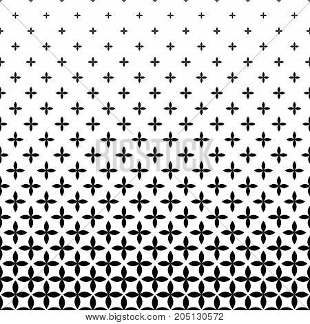 Black and white pattern - abstract vector background graphic design from curved geometric shapes