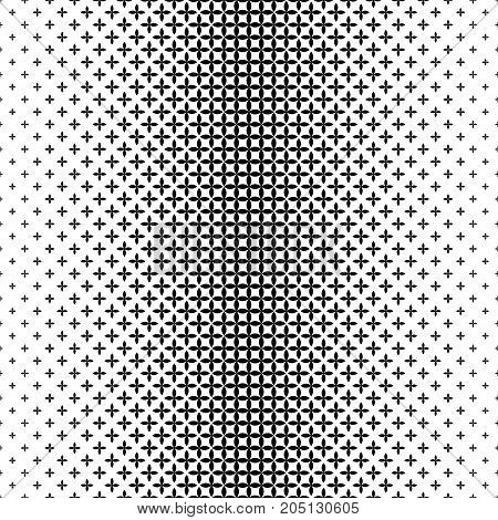 Vertical monochrome geometrical pattern - abstract vector background illustration from curved shapes