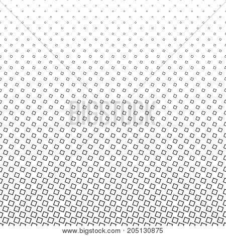 Monochrome square pattern - black and geometrical halftone abstract vector background design from angular squares