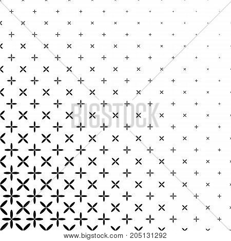 Monochrome abstract ellipse pattern background - black and white geometric halftone vector graphic design