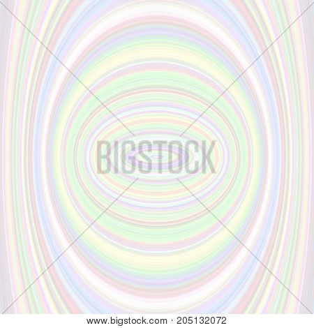 Colorful abstract ellipse background - vector graphic from concentric ellipses in light tones