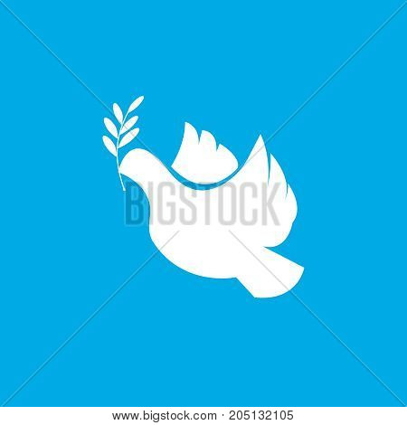 Dove of peace icon. Flying bird. Peace concept. Free Flying symbol. Vector simple icon for presentation, training, marketing, design, web. Can be used for creative template, logo.