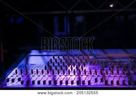 Lighting And Sound Equipment At The Music Festival