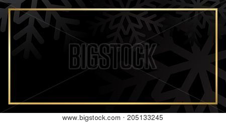 Christmas Gold Black Background