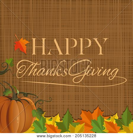 Thanksgiving Day background design. Happy Thanksgiving. Vector illustration