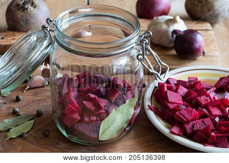 Preparation Of Beet Kvass - Fermented Red Beets