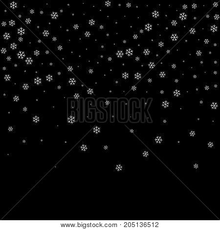 Snowflake Black Background