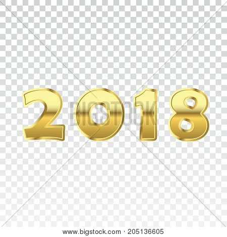 Happy New Year Golden Numbers