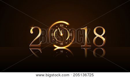 Happy New Year Background Gold