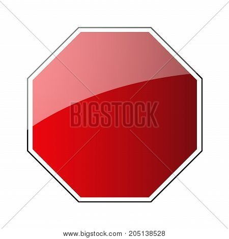 Stop Traffic Road Sign Blank