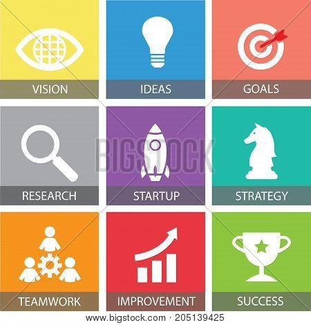 Business Startup Concept. Vector Illustration