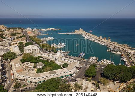 Aerial view of Mandrake Port in Rhodes
