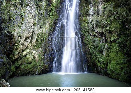 Aguas Blancas Waterfall in Constanza Dominincan Republic