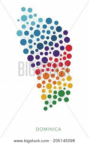 dotted texture Dominica vector rainbow colorful background