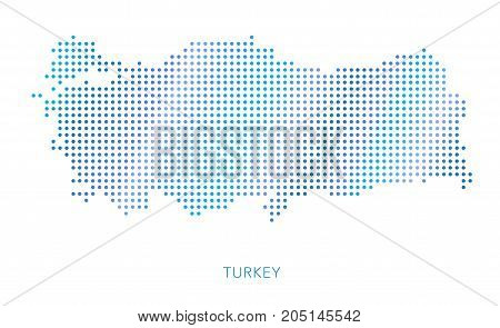 Turkey map, dot vector background, abstract pattern